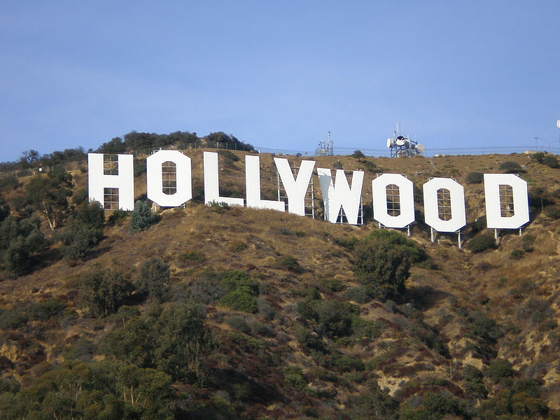 Hollywood, het centrum van de Amerikaanse filmindustrie, nabij Los Angeles.
